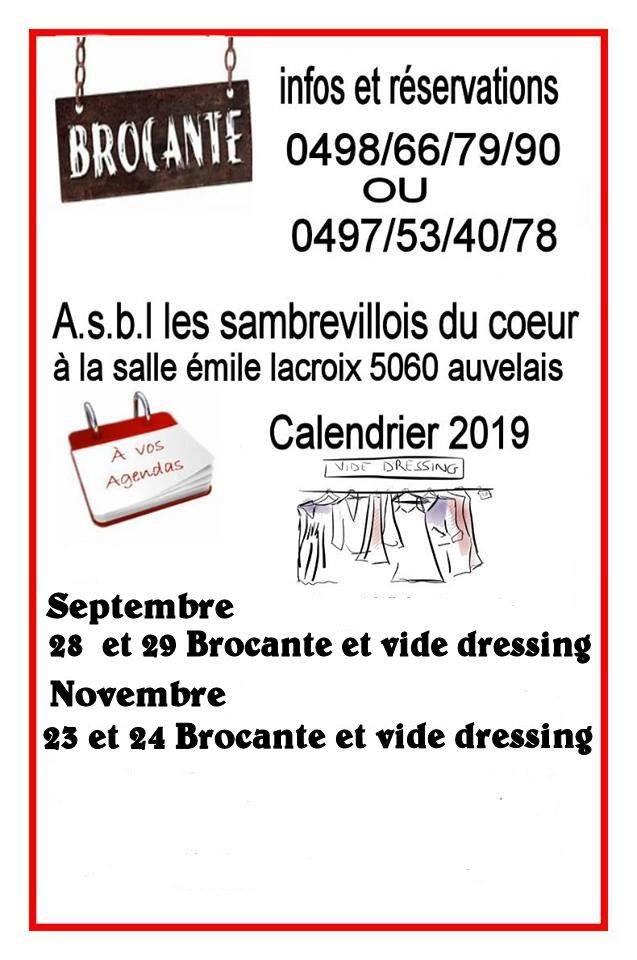 Brocante 03 Calendrier 2020.Agenda 2019 2020 Sambreville Tourisme