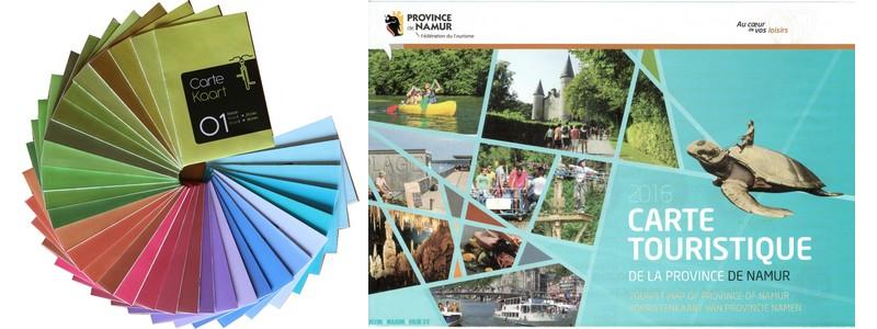 Kit vélo et carte touristique pour découvrir la province de Namur