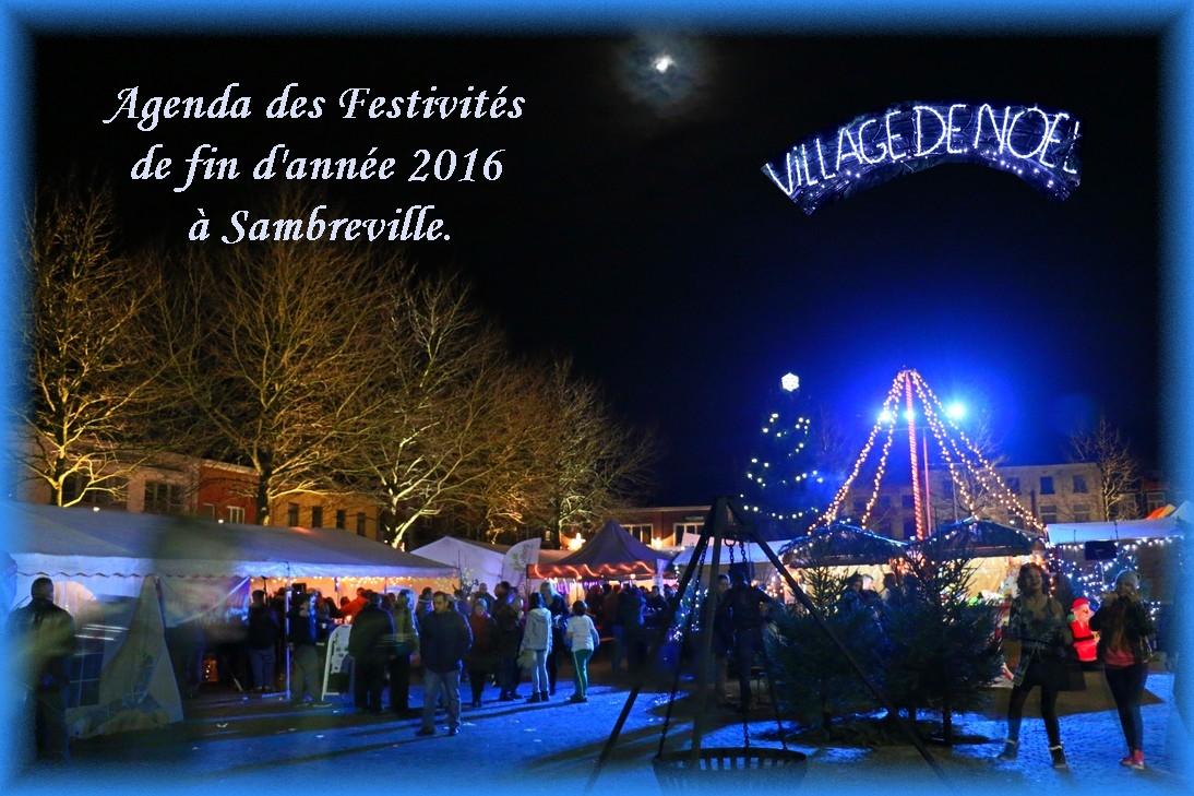 Agenda des activités de fin d'année 2016 à Sambreville