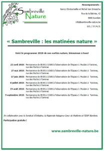 Sambreville-Nature : agenda 2018